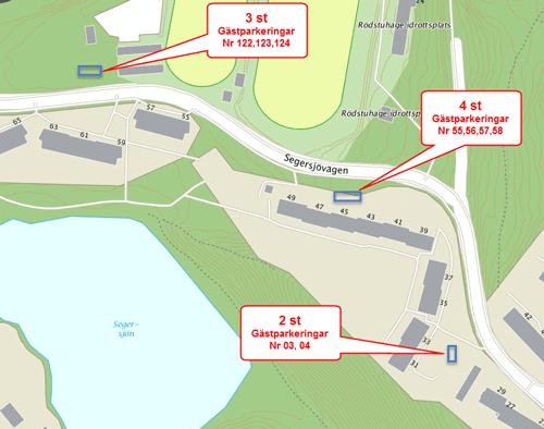 Bild på gästparkeringar